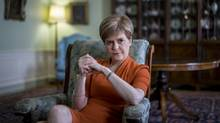 Nicola Sturgeon, Scotland's first minister, at Bute House, her official residence, in Edinburgh, June 3, 2015. (ANDREW TESTA/NYT)