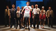 Nathan Carroll as Terry Fox and company in Marathon of Hope: The Musical. (Hilary Gauld Camilleri)