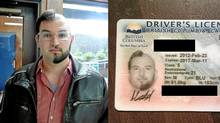 Told it was time to renew his driver's licence, computer programmer Adam Bard of Victoria decided on a lark to get a unique driver's licence photo. He shaved half his hair and trimmed his beard – on opposite sides. The images he posted on the social news site Reddit attracted more than six million views, as well as notice by a newspaper in Pakistan and the popular Daily Mail in Britain. (Handouts/Handouts)