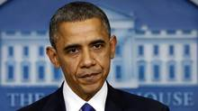 """U.S. President Barack Obama speaks about the """"fiscal cliff"""" earlier this week. (KEVIN LAMARQUE/REUTERS)"""