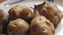 This undated photo shows a plate of Jerusalem artichokes. The Jerusalem artichoke is neither an artichoke, nor is it from Jerusalem. (Lee Reich/The Canadian Press)