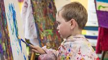 Talking to your child about the art they create is a powerful way to connect, requiring only a simple vocabulary and a little practice (iStockphoto)