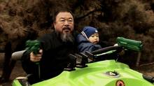 Ai Weiwei and son Ai Lao in Ai Weiwei: The Fake Case.