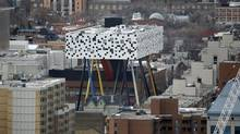 The only Canadian example the book is Will Alsop's Sharp Centre for Design. (Fernando Morales/The Globe and Mail)