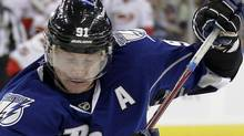 Tampa Bay Lightning centre Steven Stamkos is on the verge of a 60-goal season. (AP File Photo/Chris O'Meara) (Chris O'Meara/AP)