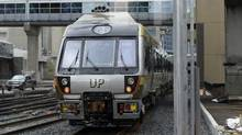 A Union Pearson Express train departs Union Station on April 22 2015. (Fred Lum/The Globe and Mail)