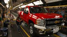 Chevrolet Silverado trucks are built at GM's Flint Assembly Plant. (General Motors)
