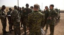 Canadian soldiers participate in a training exercise in Mali in the spring of 2011. (USAfricom/USAfricom)