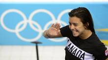 Canadian diver Meaghan Benfeito takes part in a training session at the Aquatic Centre in the Olympic Villageat the 2012 Summer Olympics in London on July 26. (Sean Kilpatrick)