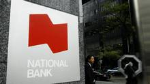 The entrance for National Bank on the corner of York St. and Adelaide St. West in Toronto's Financial district. (Charla Jones/The Globe and Mail)