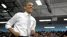 President Barack Obama arrives to speak at Florida Atlantic University, Tuesday, April 10, 2012, in Boca Raton, Fla. (Carolyn Kaster/Associated Press/Carolyn Kaster/Associated Press)