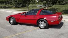 This 1986 Chevy C4 Corvette is likely to appreciate in value. (Dave Weaver for The Globe and Mail)