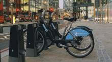 In London, members of Barclays Cycle Hire pay a fee to access 6,000 bikes at 400 locations (SPENCER MURPHY)
