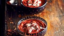 Chocolate Pudding with Pink Peppercorn and Creme Fraiche. Food Styling by Victoria Walsh. (Liam Mogan for The Globe and Mail)