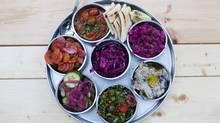 The salatim platter at Fat Pasha. (Matthew Sherwood for The Globe and Mail)
