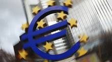 Analysts estimate the ECB may be holding as much as €50-billion or €55-billion worth of Greek government debt. (STRINGER/GERMANY/REUTERS)