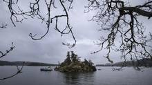 The pipeline route would travel west across the Georgia Strait and run south of Salt Spring Island en route to Saanich Inlet. (John Lehmann/The Globe and Mail)