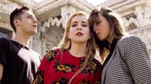 Austra releases their second album, Olympia. From left, members include Dorian Wolf, Katie Stelmanis and Maya Postepsky. (Norman Wong)