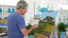 "Former President George W. Bush is displaying his paintings at an exhibit in Dallas. He appeared on NBC's ""Today"" Friday Apr 4, 2014. (Handout)"