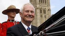 David Johnston leaves Parliament Hill by landau after being sworn-in as Canada's 28th Governor General in Ottawa October 1, 2010. (CHRIS WATTIE/REUTERS)