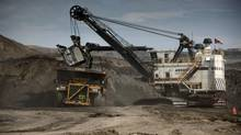 Athabasca oil sands digger, Albian Sands, Alberta, Canada. (Dieter Blum/Shell)