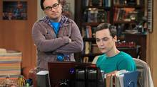 Jim Parsons, right, and Johnny Galecki of The Big Bang Theory. (Sonja Flemming)