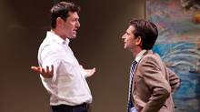 Ari Cohen and Jordan Pettle in Soulpepper's production of David Mamet's Speed-The-Plow. (Cylla von Tiedemann)