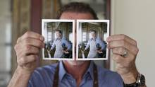 Chef Mark McEwen holds up two Fuji film instant photos taken of him at the Diwan restaurant at the Aga Khan Museum on Nov 4 2015. (Fred Lum/The Globe and Mail) (Fred Lum/The Globe and Mail)