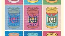 Toronto's Michael Lopez designed a Warhol-inspired T-shirt of Duff beer can pop art.