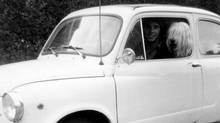 Peter Cheney in his first car, a 1967 Fiat 600