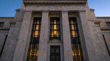 The Federal Reserve headquarters in Washington. (J. DAVID AKE/AP)