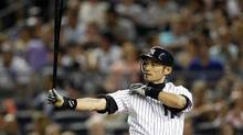 New York Yankees outfielder Ichiro Suzuki needs just three more hits to reach 4,000 for his career in Japan and North American combined. (Adam Hunger/REUTERS)