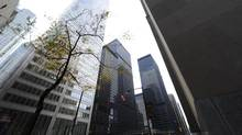 File photo of Toronto's financial district in the King St. West and Bay St. area. (Fred Lum/Fred Lum/The Globe and Mail)