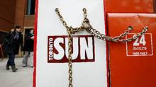 Quebecor-owned Sun Media owns dozens of weekly and daily newspapers across the country. (Deborah Baic/The Globe and Mail/Deborah Baic/The Globe and Mail)