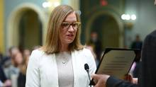 Karina Gould is sworn in as Minister of Democratic Institutions during a cabinet shuffle at Rideau Hall in Ottawa on Tuesday, Jan 10, 2017. (Sean Kilpatrick/THE CANADIAN PRESS)
