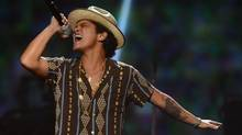 Bruno Mars performs at IHeartRadio Music Festival in Las Vegas in this Sept. 21, 2013 file photo. He will perform at the Air Canada Centre on July 26 and 27. (Powers Imagery/AP)