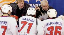 Dave King, who coached for Metallurg Magnitorgorsk in the early 2000s, will be back behind a KHL bench after the Olympics when he takes over as Lokomotiv's head coach. (Andrei Serebryakov/ITAR-TASS)