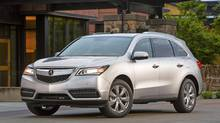 The weird angles and edges that dominated the old MDX have been tamed in the 2014 model. (Honda)