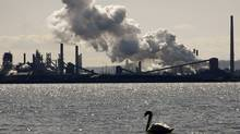 Steam billows from the U.S. Steel Canada mill, formerly Stelco, in Hamilton, Ont. (MIKE CASSESE/REUTERS)