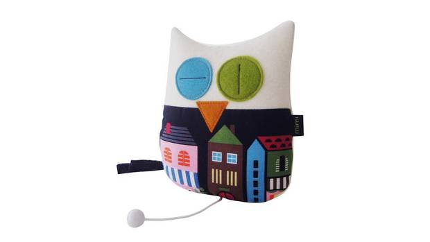 When her son was born eight years ago, Vancouver-based designer Marja Koskela welcomed him with an owl-shaped, music-playing crib hanger. She wanted a way to serenade him that was less girly than her childhood pink music box. Koskela knew it was a hit when her son didn't want to give up the felt toy, even long after he had outgrown his cradle (he kept it in his bed with his other stuffed animals until he was four). Now she sells them all over the world – and not just to new parents, but to the young at heart who want a quirky piece of decor to hang. $30 through etsy.com/shop/mimishop.