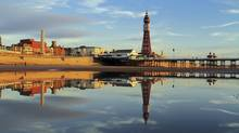 Blackpool's grandeur is first noticed on its Eiffel-like Tower. (David C Photography/Getty Images/iStockphoto)