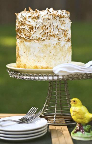 Challenge No. 1 BANANA PUDDING CAKE This cake has a show-stopping carmelized meringue.