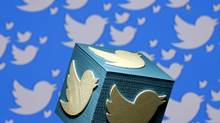 A Twitter logo is pictured. The company's shares fell after Recode reported that Google wasn't planning a bid. (© Dado Ruvic / Reuters/REUTERS)