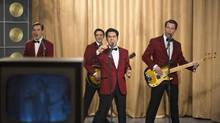 Though often flat, Jersey Boys does pick up during the musical numbers, where the pitch-perfect clone ensemble strut their stuff. (Keith Bernstein/Warner Bros. Entertainment Inc. and RatPac Entertainment)