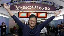 Former Yahoo CEO Jerry Yang in happier days at the Las Vegas Consumer Electronics Show in 2008. Mr. Yang announced Jan. 17, 2012, that he is leaving Yahoo. The surprise departure comes just two weeks after Yahoo Inc. hired former PayPal executive Scott Thomson as its CEO. (Paul Sakuma/AP/Paul Sakuma/AP)