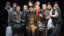 The cast of the Canadian Stage production of London Road, by Alecky Blythe and Adam Cork. (David Hou)