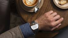 A Moto 360 smartwatch is seen in this Motorola Mobility LLC handout image released to Reuters on March 18, 2014. Google Inc said on Tuesday that smartwatches based on its Android mobile software will be available later this year, enlisting a variety of partners and signaling the Internet company's intent to play a leading role in what could be the next big computing market. (REUTERS/Motorola Mobility, LLC/Handout via Reuters)