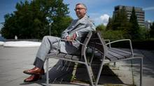 Outgoing University of British Columbia president Stephen Toope sits for a photograph on campus in Vancouver, B.C., on Thursday June 26, 2014. (Darryl Dyck for The Globe and Mail)