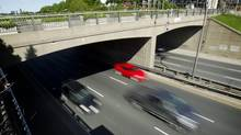The Dufferin Street Bridge over the Gardner Expressway in Toronto on June 3, 2013. (Peter Power/The Globe and Mail)