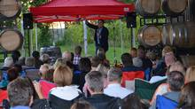 James Mullinger organized this show at Dunhams Run Estate Winery outside Saint John